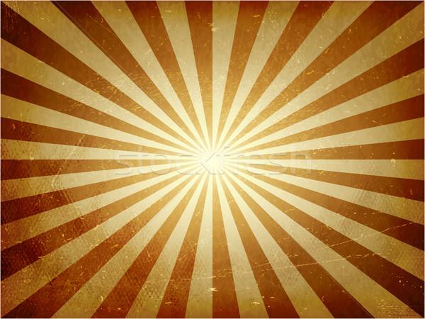 Licht Burst Vektor abstrakten Jahrgang golden Stock foto © wenani