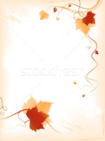 Résumé rouge or feuillage tourbillons vertical Photo stock © wenani