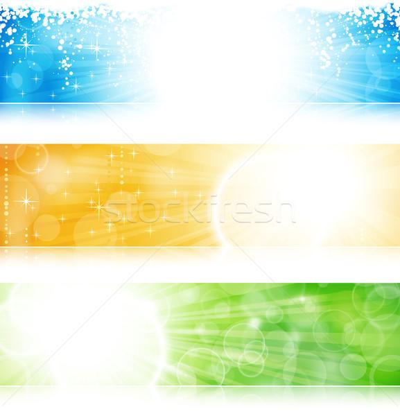 Licht banner ingesteld vector Stockfoto © wenani