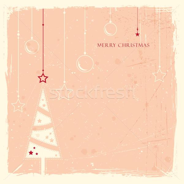 Гранж рождественская елка подвесной украшения шаблон Сток-фото © wenani