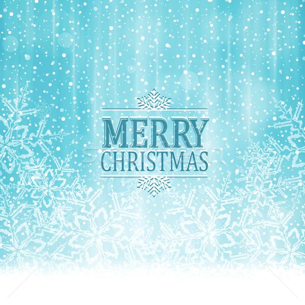 Alegre Navidad tipografía invierno mundo maravilloso resumen Foto stock © wenani