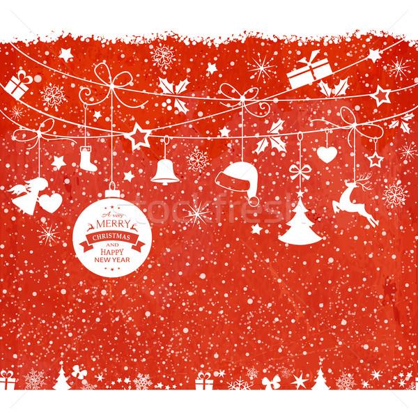 Suspendu ornements texture rouge Photo stock © wenani