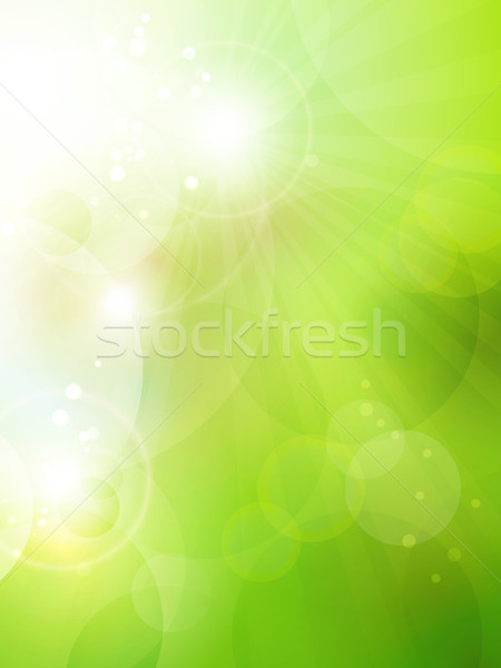 Abstract green bokeh background Stock photo © wenani