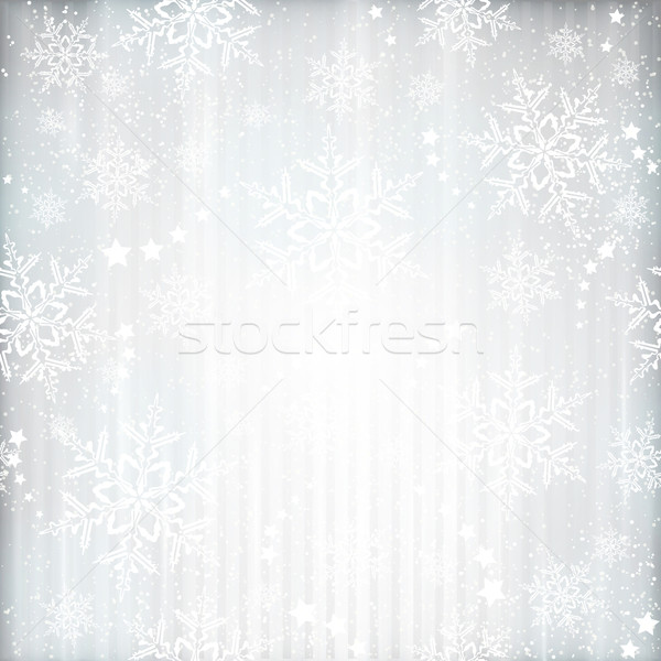 Silver winter, Christmas background with snowflake star pattern Stock photo © wenani
