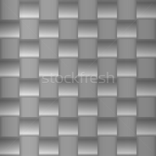 Metaal geometrisch patroon metalen zilver patroon eenvoudige Stockfoto © wenani