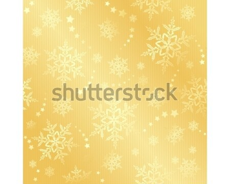 Golden snow flake winter pattern Stock photo © wenani