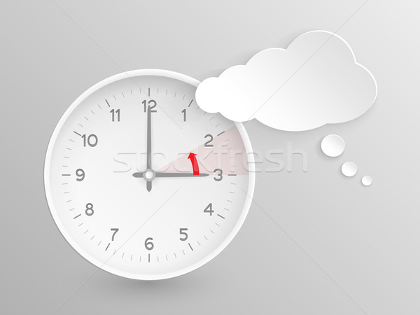 European Summer Time ends, Vector clock to reset the time Stock photo © wenani
