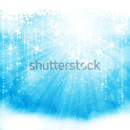 Abstract blue white Christmas, winter background Stock photo © wenani