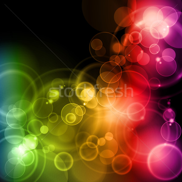 Magic lights in rainbow colors Stock photo © wenani