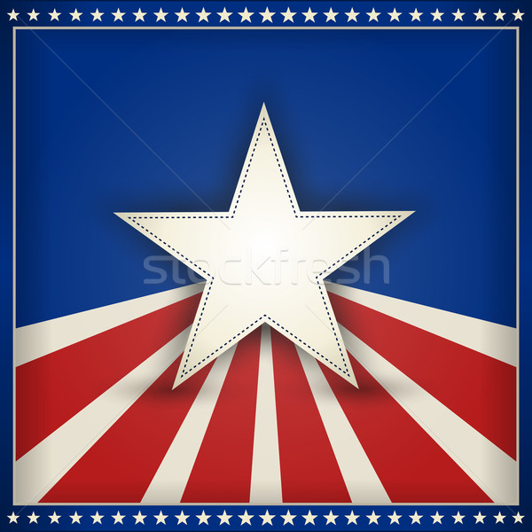 Stock photo: Patriotic USA background with stars and stripes