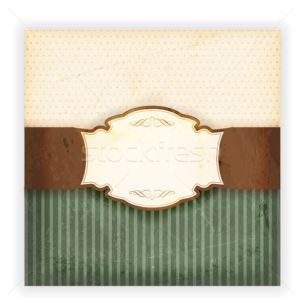 Grungy invitation card with label Stock photo © wenani