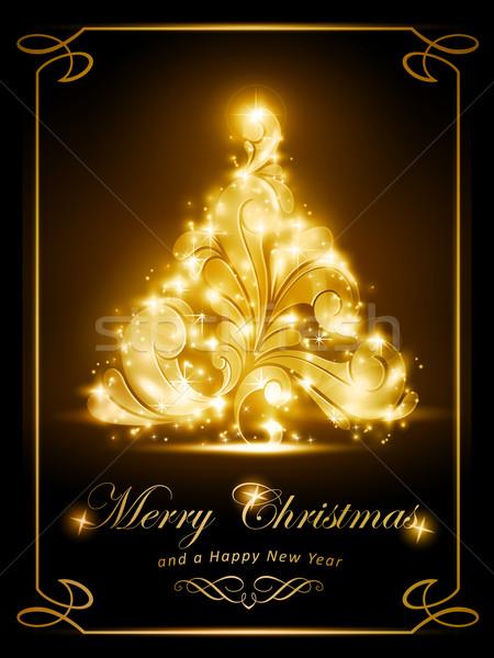 Elegant Christmas card, party invitation Stock photo © wenani