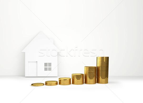 rising house prices 3D illustration Stock photo © Wetzkaz