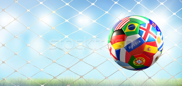 Foto stock: Futebol · meta · futebol · mundo · bandeiras · projeto