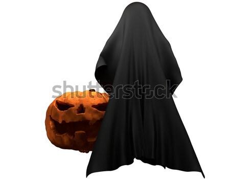 Halloween pumpkin with ghost creature horror halloween 3d illust Stock photo © Wetzkaz