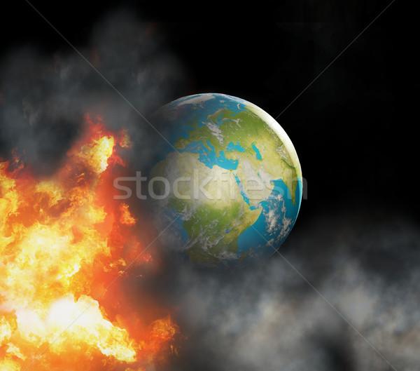 Notfall Welt Welt konzentriert Europa Feuer Stock foto © Wetzkaz