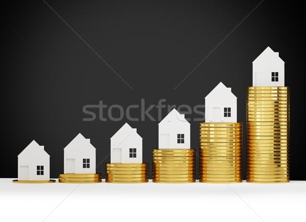 Casa precios 3d dinero fondo Foto stock © Wetzkaz