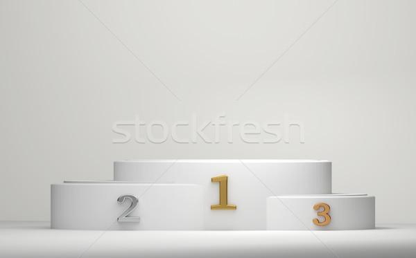 Podium cylinder 3D kubek uroczystości Zdjęcia stock © Wetzkaz