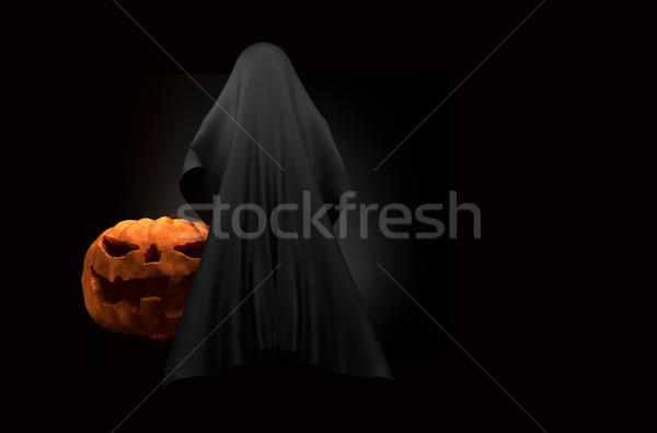 Calabaza de halloween fantasma criatura horror halloween 3D Foto stock © Wetzkaz