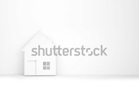 Casa pared 3d familia edificio Foto stock © Wetzkaz
