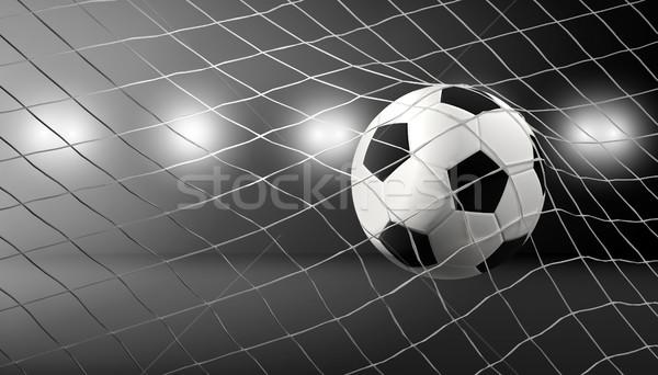 Futball gól futballabda net 3d illusztráció Stock fotó © Wetzkaz
