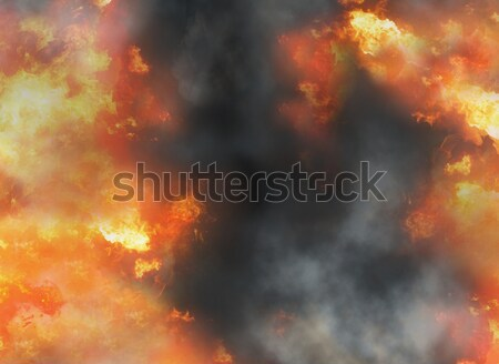 fire flames and smoke background 3d-illustration Stock photo © Wetzkaz