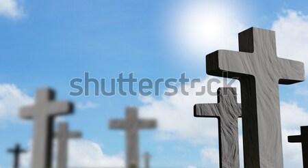 Cmentarz piekła ognia streszczenie ramki ciemne Zdjęcia stock © Wetzkaz