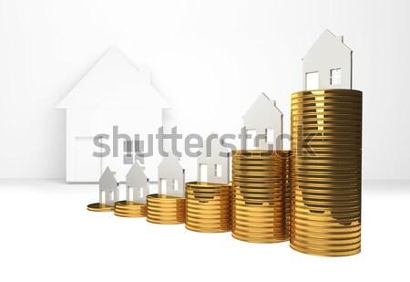 Casa 3d negocios financiar éxito Foto stock © Wetzkaz