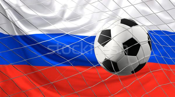 Fútbol fútbol pelota bandera Rusia objetivo Foto stock © Wetzkaz