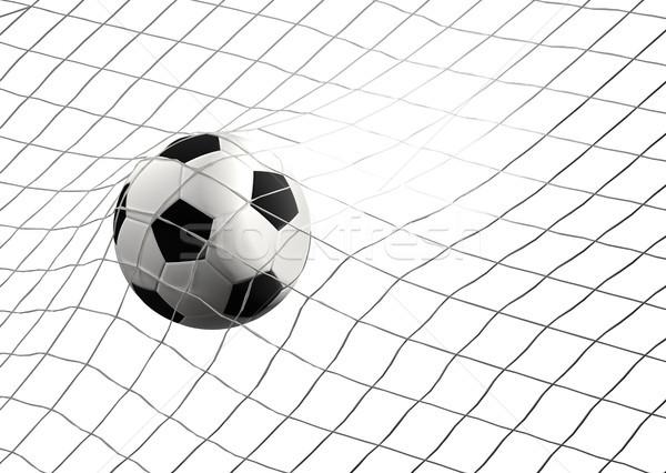 Fútbol objetivo balón de fútbol neto 3d Foto stock © Wetzkaz