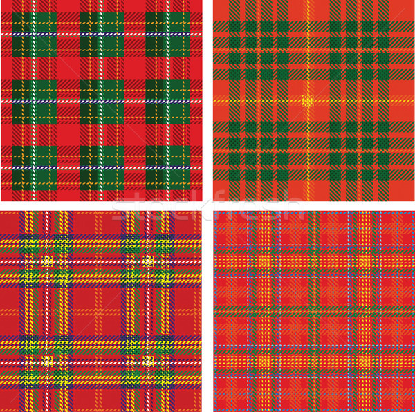 Vector pattern of seamless tartan plaid Stock photo © Wikki