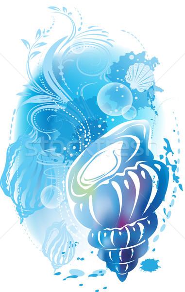 Illustratie natuur zomer oceaan shell Stockfoto © Wikki