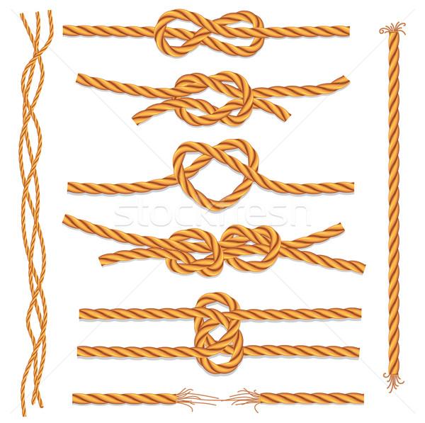 Ingesteld touwen patroon touw cartoon doek Stockfoto © Wikki