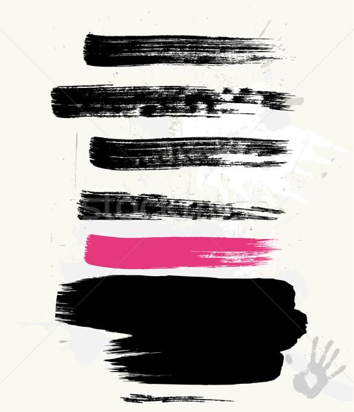 Гранж щетка текстуры штампа чернила цифровой Сток-фото © Wikki