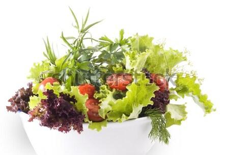 Salata karışık sebze gıda sağlık yeşil Stok fotoğraf © Wikki