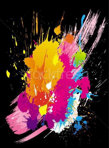 Vector kleurrijk ontwerp verf graffiti Stockfoto © Wikki