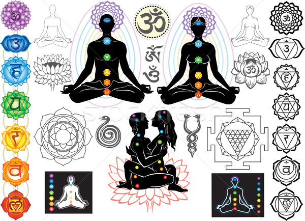 Chakras and esoteric symbols Stock photo © Wikki