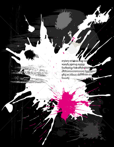 Гранж черный аннотация дизайна чернила всплеск Сток-фото © Wikki