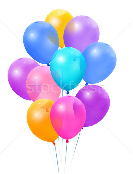Colored balloons on a white background Stock photo © Wikki