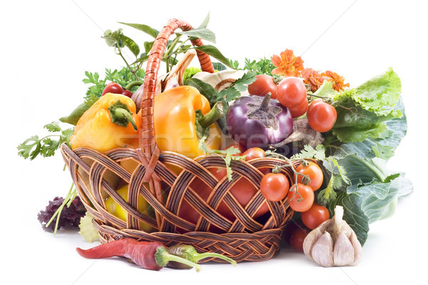 Basket with vegetables  Stock photo © Wikki