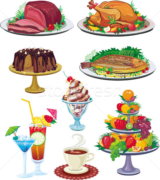 Set of dishes Stock photo © Wikki