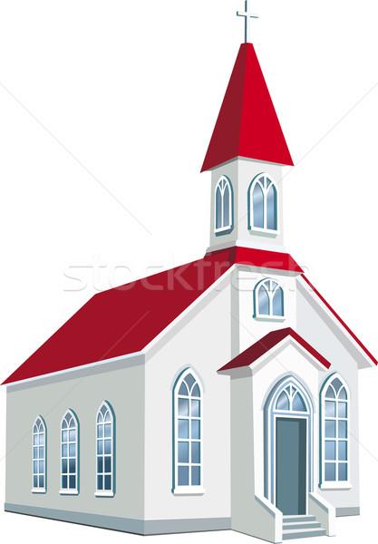 Weinig christelijke kerk Pasen aanbidden architectuur Stockfoto © Wikki