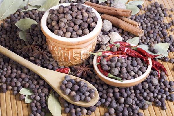 Stilleven Spice voedsel Rood peper aroma Stockfoto © Wikki