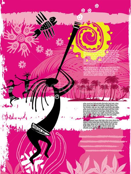 Vorlage Flyer Party abstrakten Hintergrund Disco Stock foto © Wikki