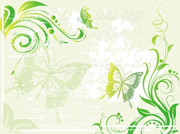 Grunge groene element ontwerp achtergrond Stockfoto © Wikki