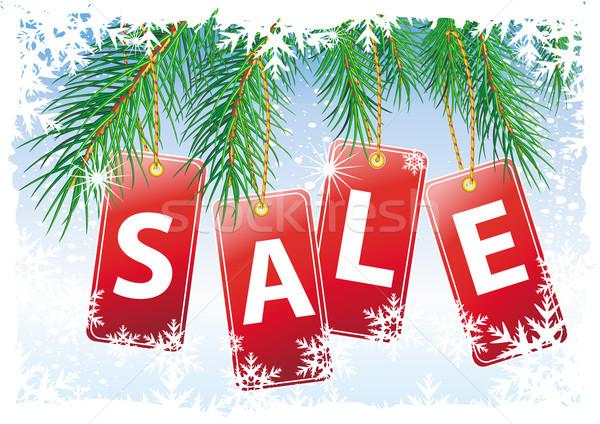 Christmas verkoop ontwerp sneeuw achtergrond Rood Stockfoto © Wikki