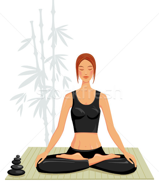 йога девушки счастливым работу фитнес Сток-фото © Wikki