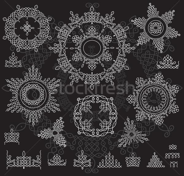 Round Ornament Pattern with pattern brash. Rangoli Stock photo © Wikki