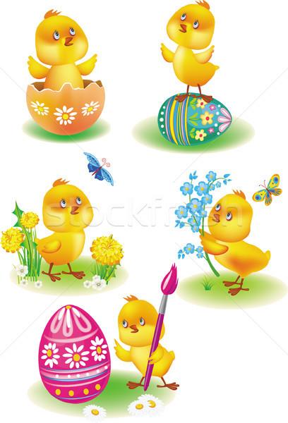 мало желтый куриные Пасху весны природы Сток-фото © Wikki