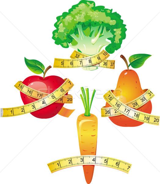 Foto stock: Vegetal · comida · gordura · escala · peso